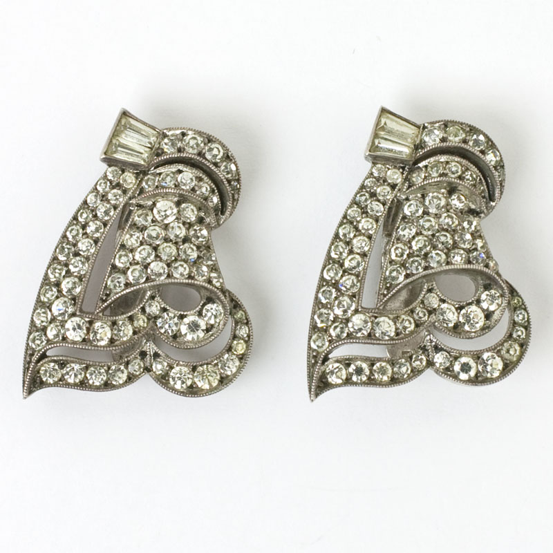 Ciro sterling dress clips