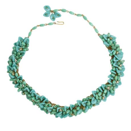1950s turquoise bead choker