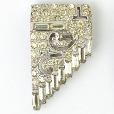 Close-up view of a dress clip