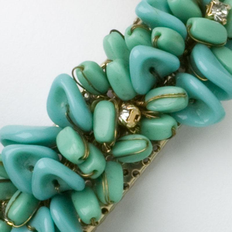 Close-up view of bracelet front