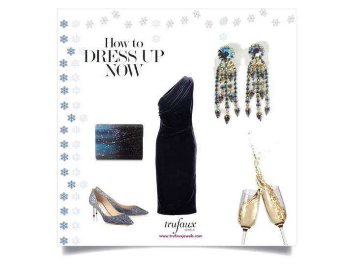Dress Up Your Little Navy Dress with Vintage Jewels