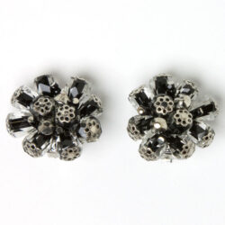 Black-and-white ear clips by Alice Caviness