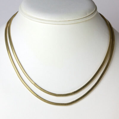 2-strand gold filled snake chain necklace