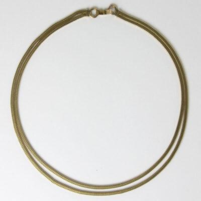 Full view of Forstner snake chain necklace
