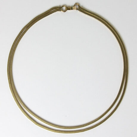 Full view of Forstner snake chain necklace