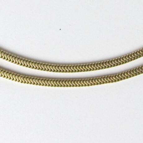 Close-up view of 2-strand chain