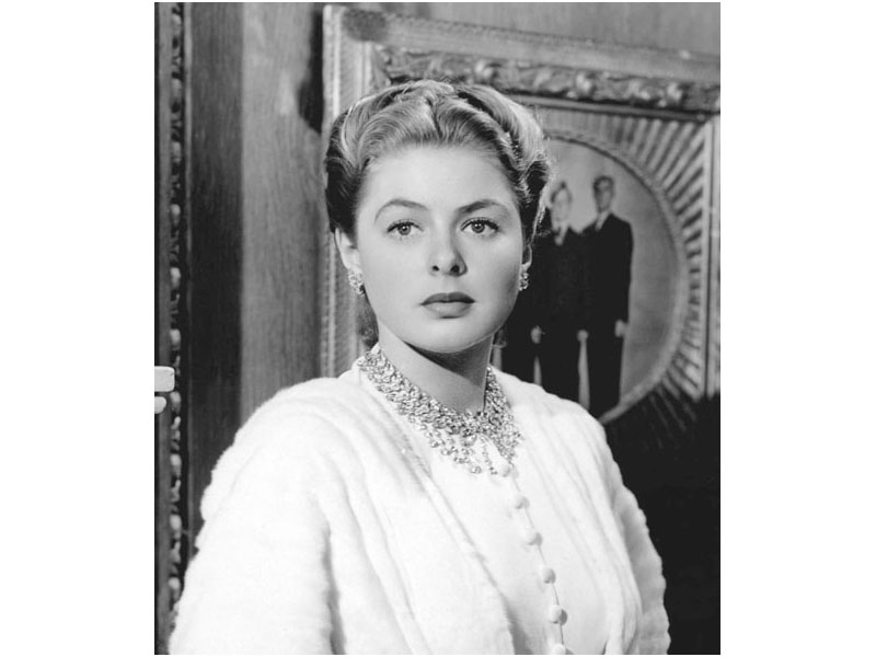 Movie jewelry by Harry Winston and worn by Ingrid Bergman in Notorious