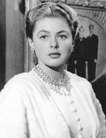 Ingrid Bergman wearing Harry Winston Necklace in Notorious