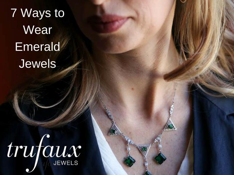 How to wear emerald costume jewelry with contemporary fashion