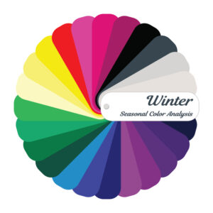 Winter palette; cool color palette