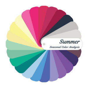 Summer palette; cool color palette