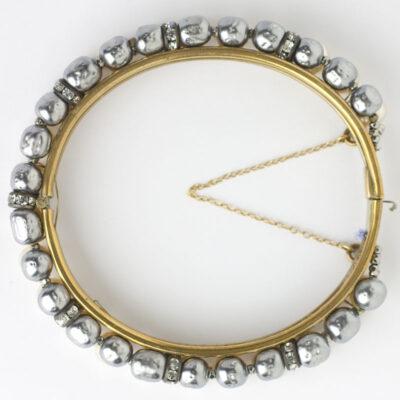 Overhead view of Miriam Haskell bangle