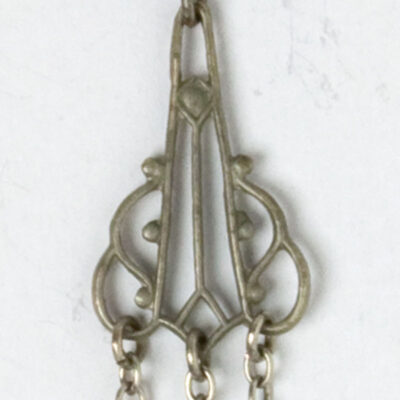 Close-up view of earring detail