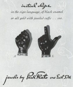 Paul Flato ad for initial clips in sign language