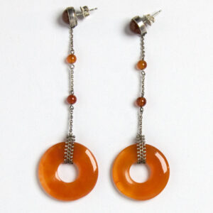 Carnelian ring German Art Deco earrings