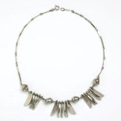 Chrome German Machine Age necklace