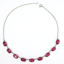 Vintage ruby Art Deco necklace