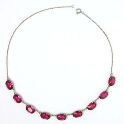 Vintage ruby Art Deco necklace