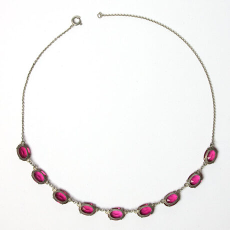 Back of ruby Art Deco necklace