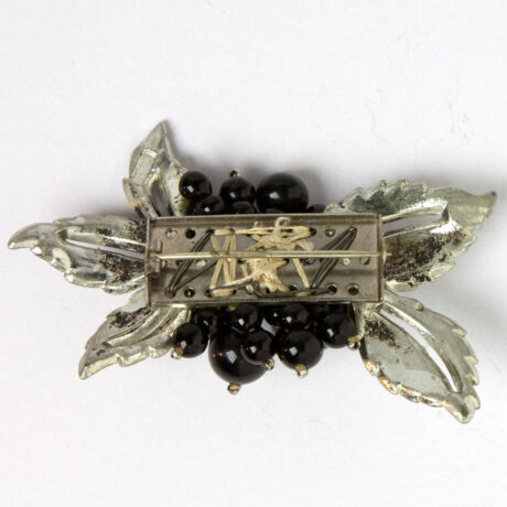 Back of floral brooch