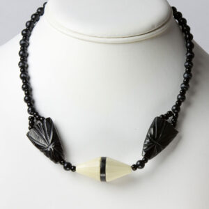 Black & cream necklace
