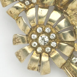 Close-up view of Otis brooch
