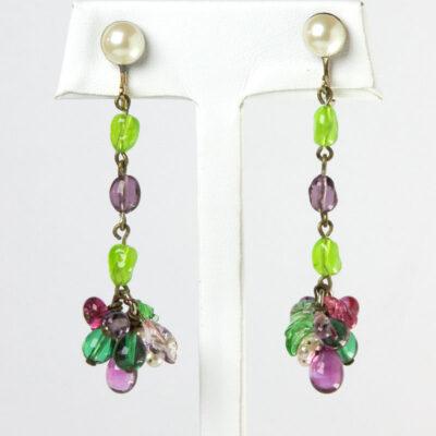 Blown glass earrings by Louis Rousselet