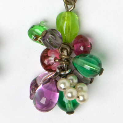 Cluster of blown glass beads & pearls