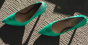 Emerald shoes pointed the way