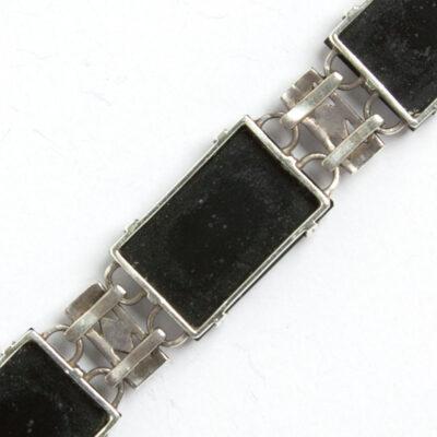 Close-up view of bracelet construction