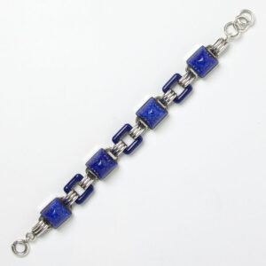 Lapis & sterling Art Deco bracelet