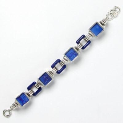 Back of lapis Art Deco bracelet
