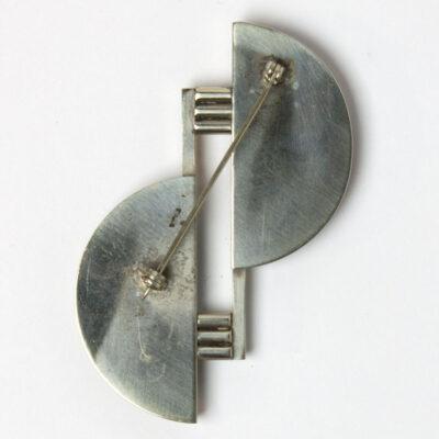 Back of Jakob Bengel Machine Age brooch