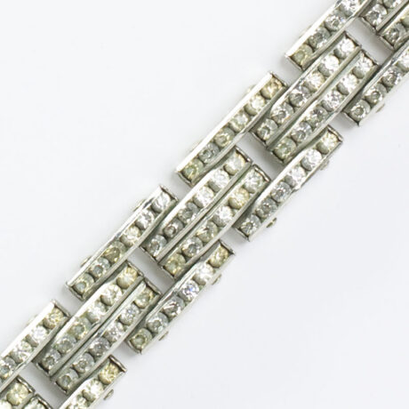 Close-up view of tank track bracelet