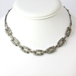 Vintage link necklace with diamanté