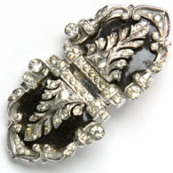 Enamel brooch with diamanté by DeRosa