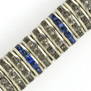 Close-up view of Art Deco bar brooch
