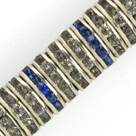 Close-up view of Art Deco bar brooch