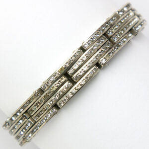 1950s expansion bracelet with diamanté