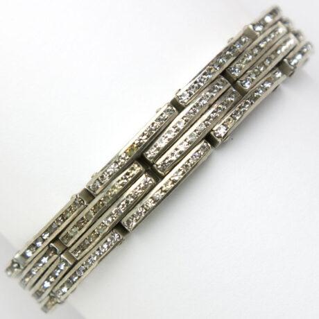 1950s expansion bracelet with diamanté