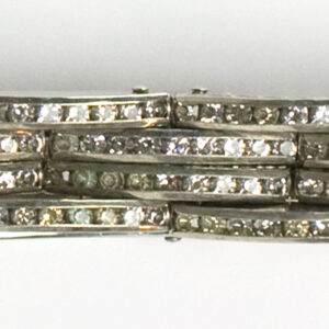 Close-up view of diamante links