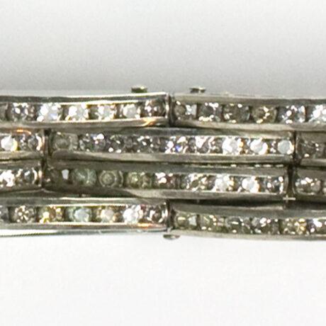 Close-up view of diamante links