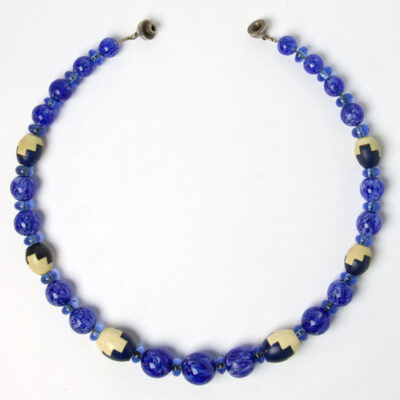 Sapphire bead Art Deco necklace by Louis Rousselet