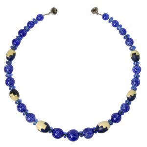 Blue bead Art Deco necklace