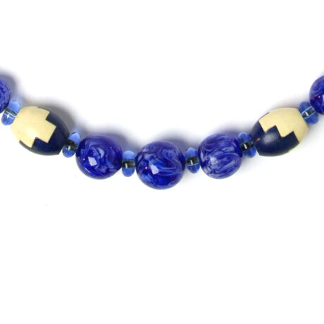 Close-up view of puzzle beads