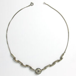 German Art Deco plaque necklace