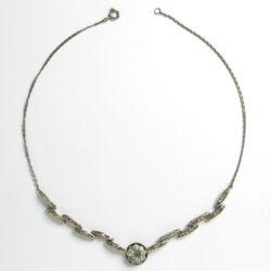 German Art Deco plaque necklace