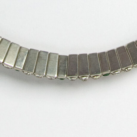 Close-up view of necklace back