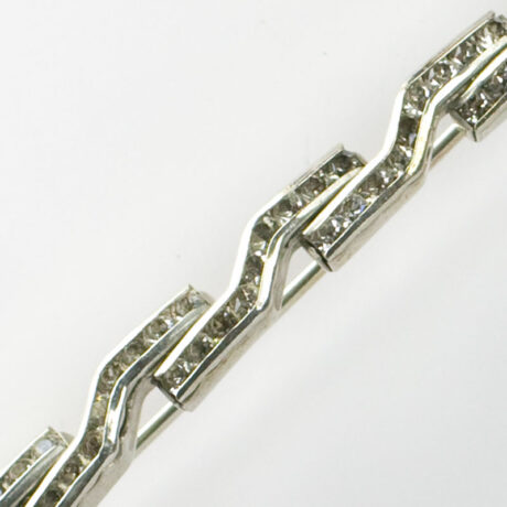 Close-up view of brooch