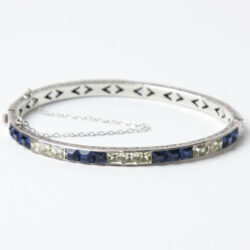 Art Deco sterling bangle
